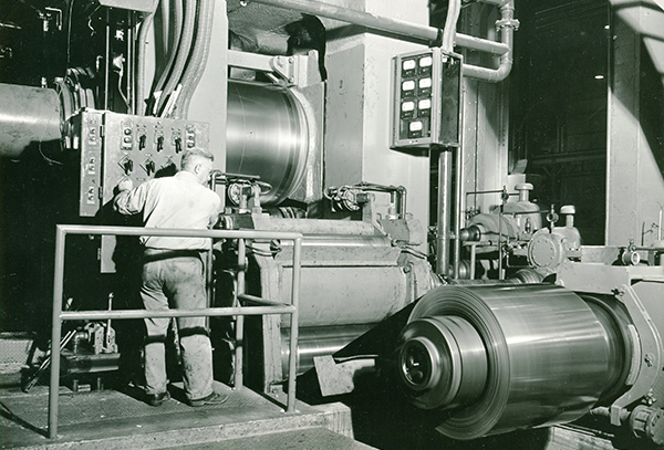 Steel worker in the 1960s
