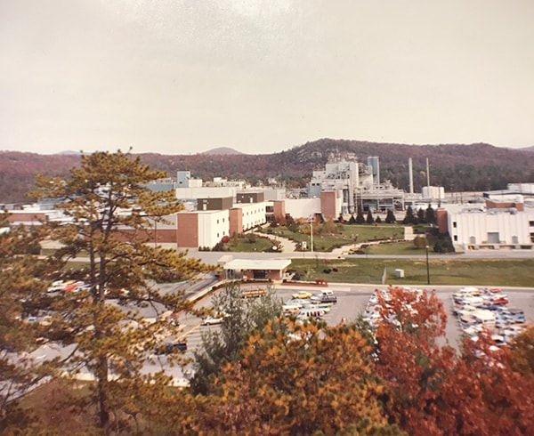 A landscape view of the DuPont plant from the 80s.
